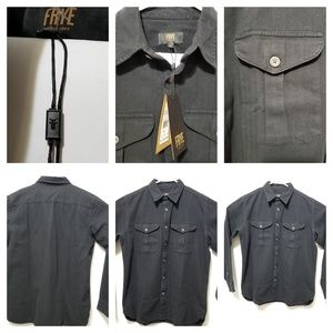 Frye Company Men's Black Long Sleeve Shirt Size L